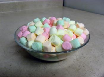 Colorful mini marshmallows