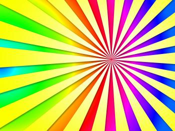 Colourful Dizzy Striped Tunnel Background Shows Dizzy Illustration Or