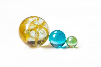 colourful glass marble balls
