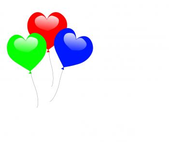 Colourful Heart Balloons Show Romantic Anniversary Celebration