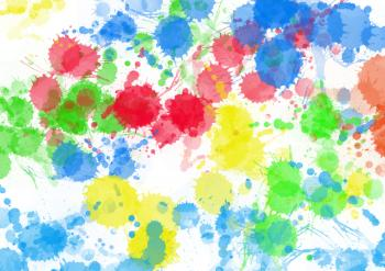 Colourful Paint Splats