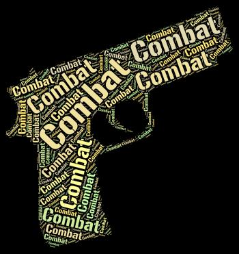 Combat Word Represents Inhibit Impede And War
