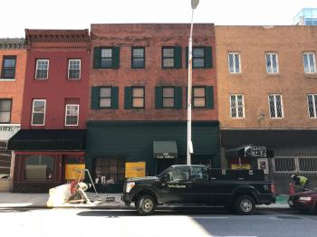 Commercial block proposed for demolition, 347-357 N. Calvert Street, Baltimore, MD 21202
