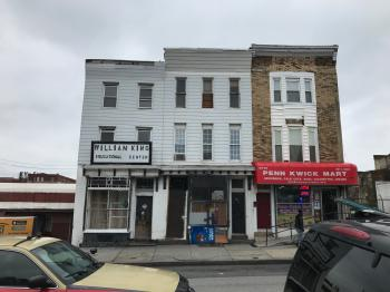 Commercial storefront buildings (William King Educational Center and Penn Kwick Mart), 2334-2338 Pennsylvania Avenue, Baltimore, MD 21217