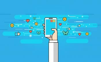 Communication Using Apps - Modern Communication Concept