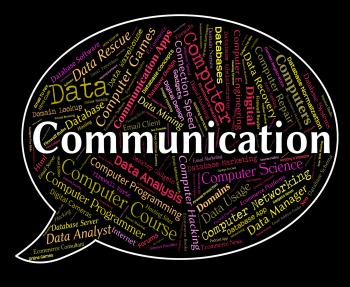 Communication Word Indicates Debate Communicating And Chatting
