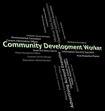 Community Development Worker Represents Working Woman And Advanc