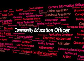 Community Education Officer Means Team Work And Recruitment