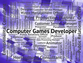 Computer Games Developer Shows Play Time And Communication