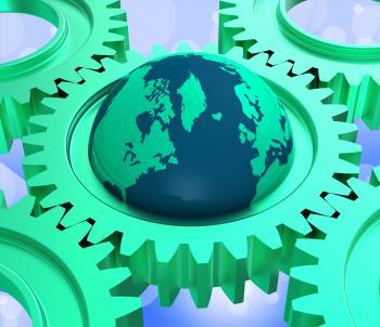 Computer Global Indicates Lan Network And Computing