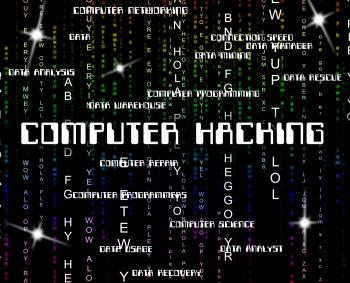 Computer Hacking Shows Crime Threat And Vulnerable