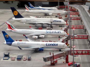 Condor Airplane on Grey Concrete Airport