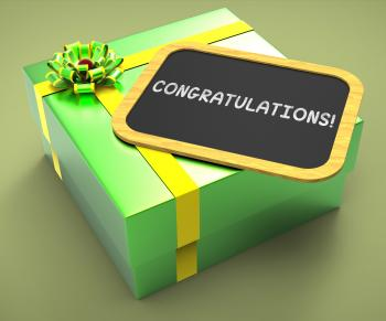 Congratulations Present Card Shows Accomplishments And Achievements