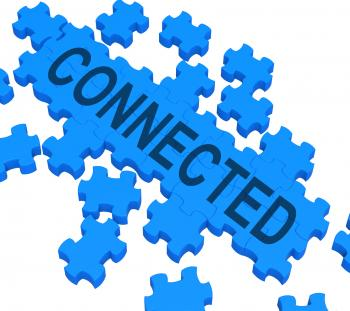 Connected Puzzle Showing Global Communications