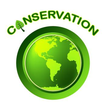 Conservation Globe Means Eco Friendly And Conserving