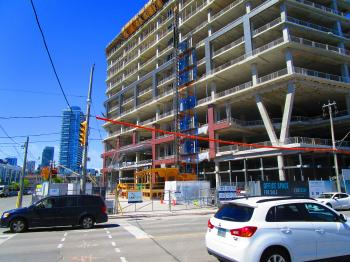 Construction on Lower Jarvis and Queen's Quay, 2017 06 08 -o