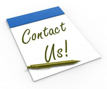 Contact Us! Notebook Means Customer Service And Support