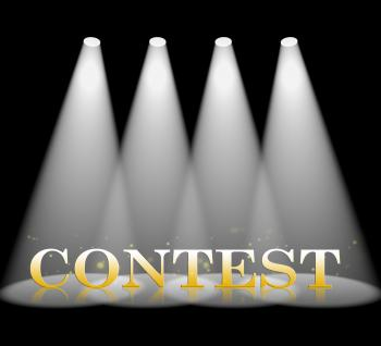 Contest Spotlight Shows Floodlight Competitive And Lights