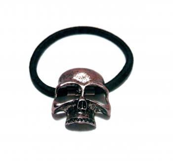 Copper tone 3d skull head band