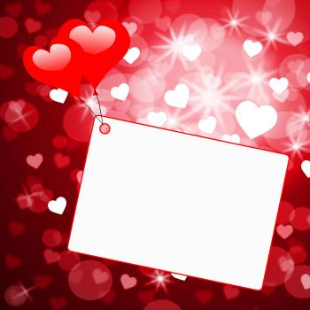 Copyspace Tag Represents Valentines Day And Card