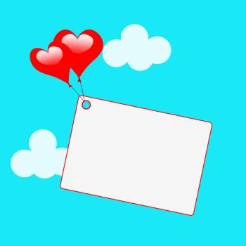 Copyspace Tag Shows Heart Shapes And Card