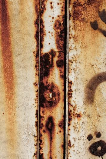 Corroded Metal Fence Texture