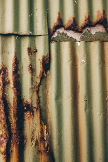 Corrugated Rusted Metal Texture
