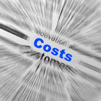 Costs Sphere Definition Displays Financial Management Or Costs Reducti