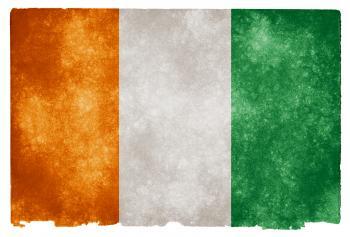 Cote d'Ivoire Grunge Flag