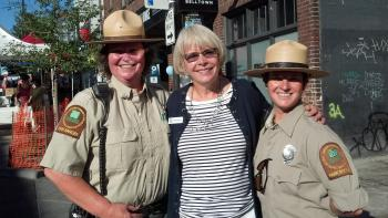Councilmember Bagshaw with Park Rangers