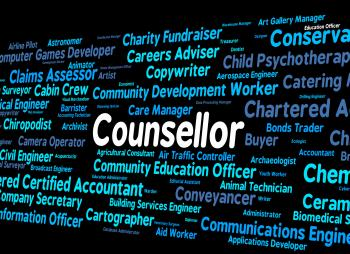 Counsellor Job Means Adviser Hiring And Occupation