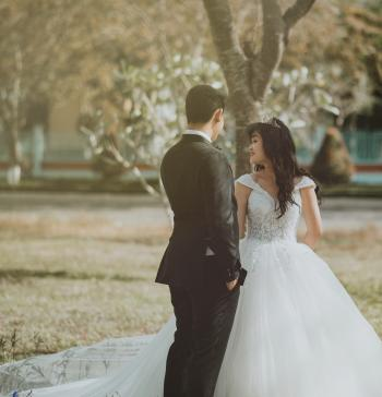 Couple in Wedding Dresses