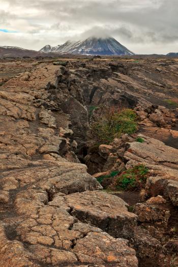 Cracked Grjotagja Rockscape