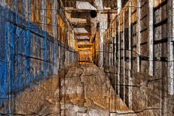 Cracked Urbex Corridor