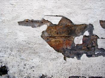Cracked wall surface