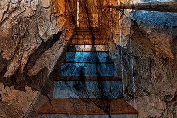 Cracked Wood Staircase