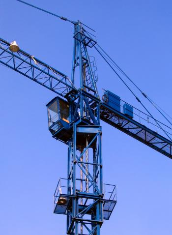 Crane against a Blue Sky