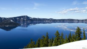 Crater Lake in June, Oregon