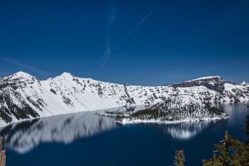 Crater Lake, Oregon in Spring