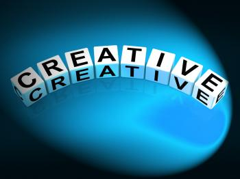 Creative Dice Mean Innovative Inventive and Imaginative