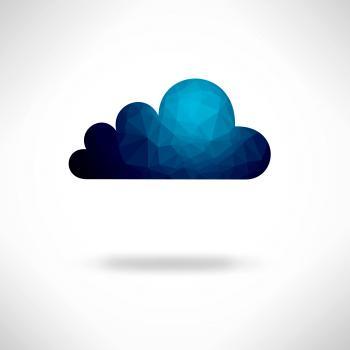 Creative digital cloud background