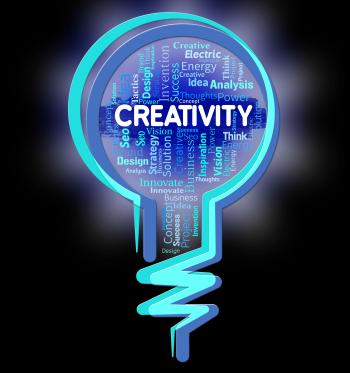 Creativity Lightbulb Shows Inventions Designs And Design