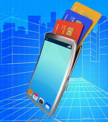 Credit Card Online Indicates World Wide Web And Bankcard