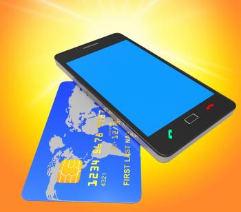 Credit Card Online Means World Wide Web And Banking
