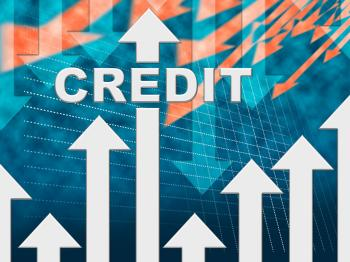 Credit Graph Indicates Finance And Loan Diagram