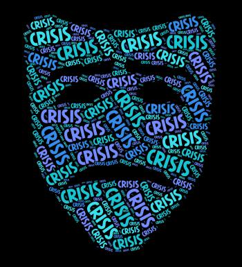 Crisis Word Indicates Dire Straits And Calamity