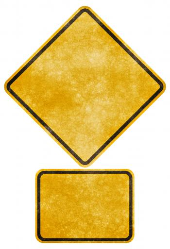 Crossing Road Grunge Sign - Blank