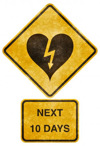 Crossing Road Grunge Sign - Heart-Strick