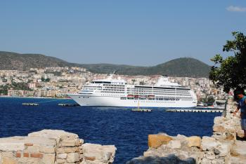 Cruise Ship in the Kusadasi Port
