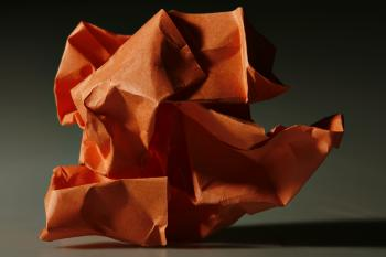 crumpled paper